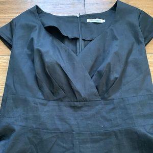 Bbonline Dresses - Black Short Sleeve Circle Skirt Dress